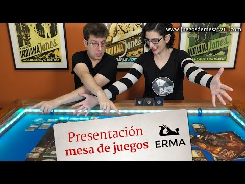 Presentación mesas de juego de ERMA muebles
