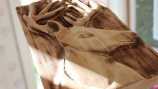 Carving A Deer/ Reindeer Relief With Dremel