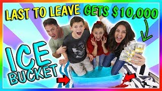 LAST TO LEAVE ICE BUCKET WINS $10,000 | We Are The Davises