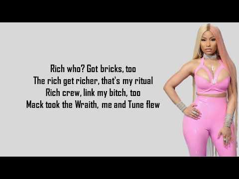 Nicki Minaj - Rich Sex (Lyrics) ft. Lil Wayne (HD version)