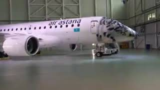 """Эйр Астана"" представила новый авиалайнер Embraer 190-E2"