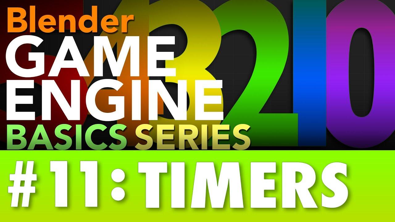 Blender Game Engine Basics Tutorial #11 : Timers #b3d #gamelogic