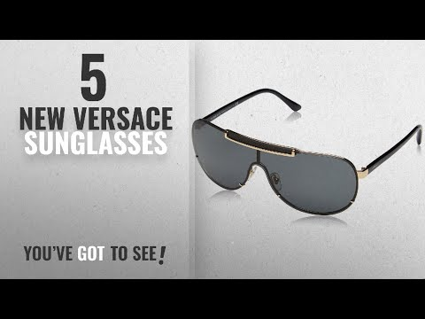 Top 10 Versace Sunglasses [ Winter 2018 ]: Versace Sunglasses VE 2140 BLACK 1002/87 VE2140