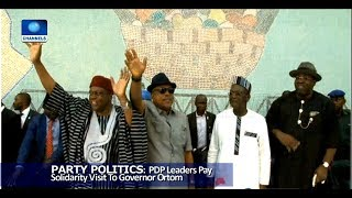 PDP Leaders Pay Solidarity Visit To Governor Ortom 01/08/18 Pt.2 |News@10|