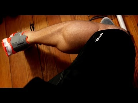 Frugal Exercise Demo: Bodyweight Calf Raises & Single Leg Calf Raies Off Step