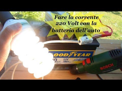 FARE CORRENTE 220 CON BATTERIA AUTO