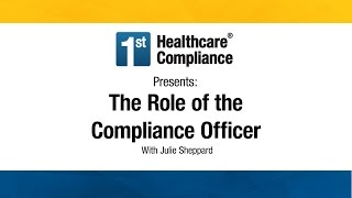 The Role of the Compliance Officer