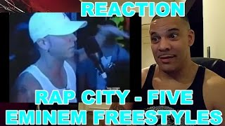 Eminem 5 Freestyles - Rap City REACTION