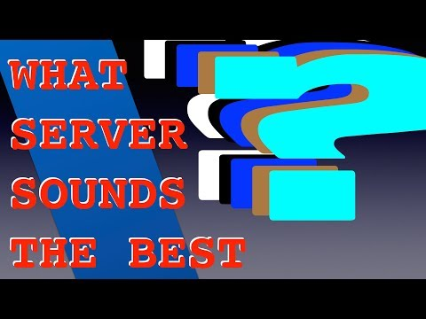 What Audio Server Sounds The Best?