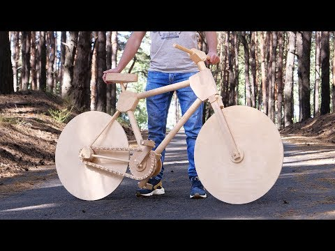 Building a Bicycle Entirely Out of Wood