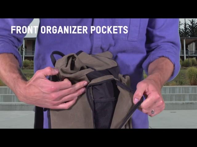 Видео Сумка Blackburn Wayside Backpack/Pannier 19 л черно-бежевая