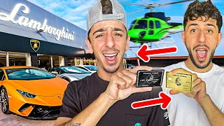 Swapping Credit Cards with my Brother! **NO LIMIT**
