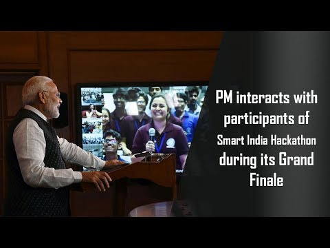 PM interacts with participants of Smart India Hackathon during its Grand Finale