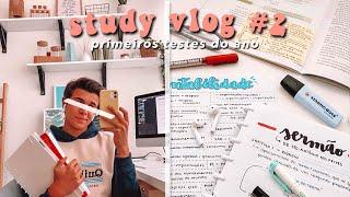 STUDY VLOG #2  // OS PRIMEIROS TESTES DO ANO! | TiagoJLeitão