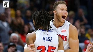 Derrick Rose COLD BLOODED Game-Winner   Pistons vs Pelicans   December 9, 2019