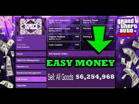 GTA 5 HOW TO SELL ALL GOODS IN THE NIGHTCLUB DLC AND MAKE ALOT OF MONEY ONLINE