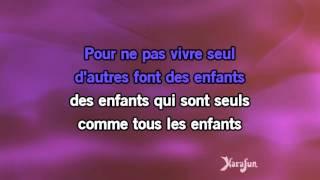 Karaoké Pour ne pas vivre seul - Dalida *