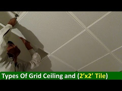 What Is Drop Grid Ceiling (Ceiling Tile Installation)