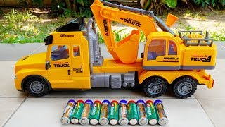 포크레인 덤프트럭 중장비 장난감 무선조종 놀이 전동차 장난감 놀이 Excavator Truck for Kids Car toys