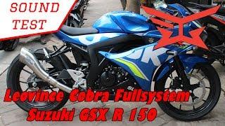 Sound Test : Leovince Cobra Full System Suzuki Gsx R 150