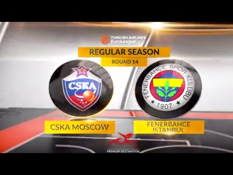 EuroLeague Highlights RS Round 14: CSKA Moscow 79-95 Fenerbahce Istanbul
