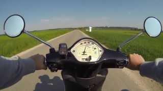 preview picture of video 'Vespa LX 50 2T unterwegs mit der Gopro Hero 3 Black'