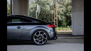 """2018 Audi TT RS (400HP) - """"baby R8"""" is making launch-control burnout!!!"""