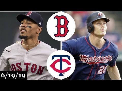 Boston Red Sox vs Minnesota Twins - Full Game Highlights   June 19, 2019   2019 MLB Season