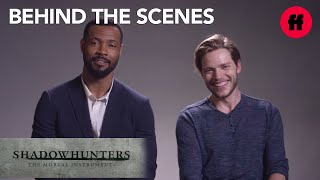 Shadowhunters | Isaiah Mustafa & Dominic Sherwood Talk Similarities With Their Characters | Freeform