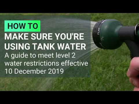 Level 2 Water Restrictions Guide for Water Tank Owners