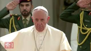 L'accueil du Pape François au Palais présidentiel à Abou Dhabi