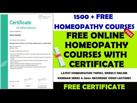 BHMS Courses | Free Online Homeopathy Courses with Certificate | Free Medical Courses