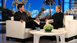 Ellen Attempts To Get Rob Lowe To Say The Mystery Word