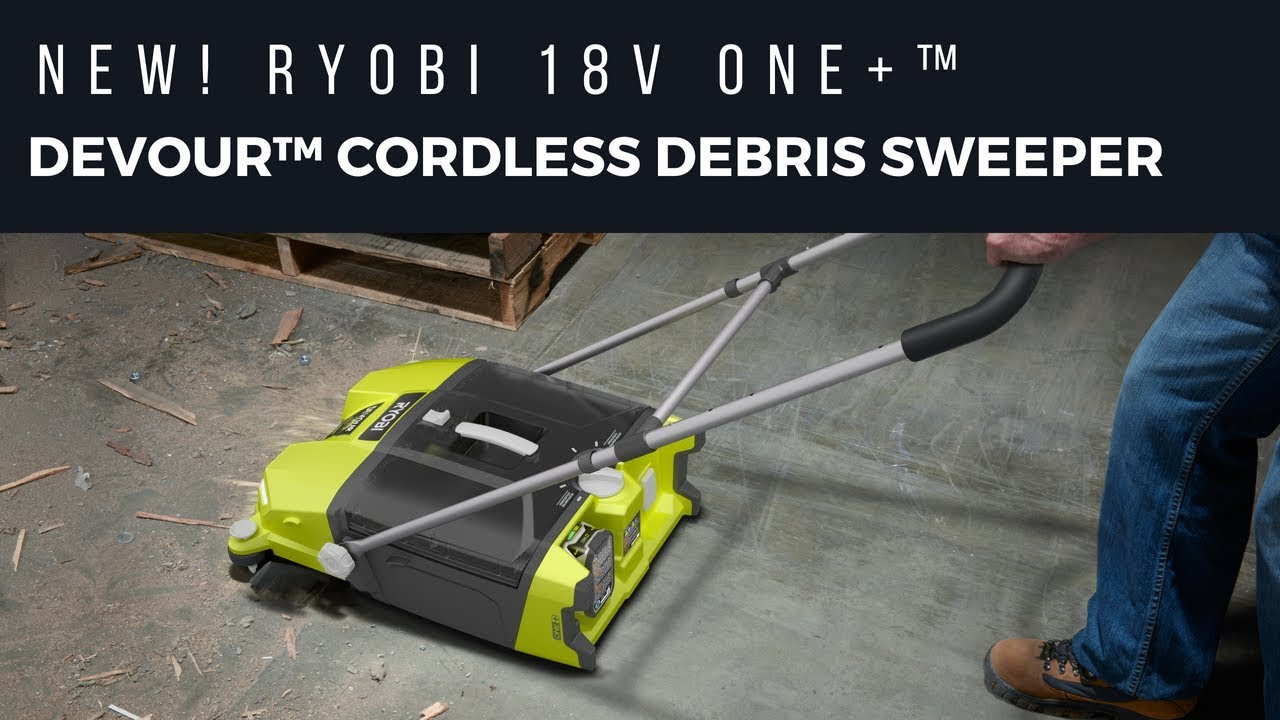 Quickly sweeps up large and small debris