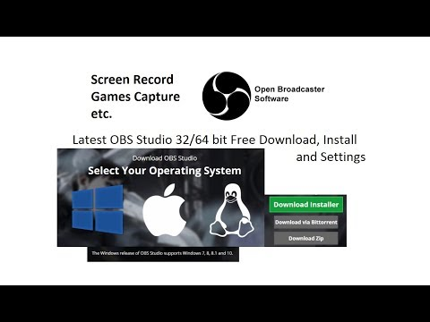Latest OBS Studio 32/64 bit Free Download, Install and Settings