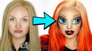 Bratz Doll Makeup Challenge (With an SFX Twist💀