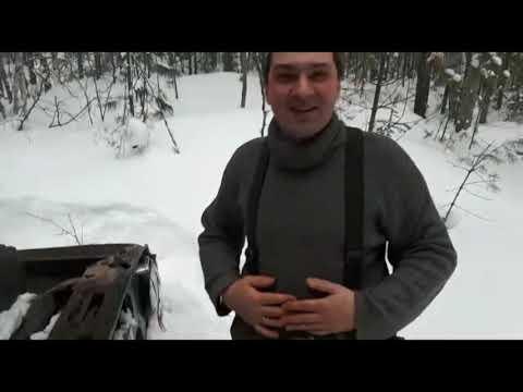 Не удачный выезд в баню в декабре (Обзор ДЕФЛЯТОРА с АЛИ...) снег, 4х4, уаз, лес, чай и путь домой