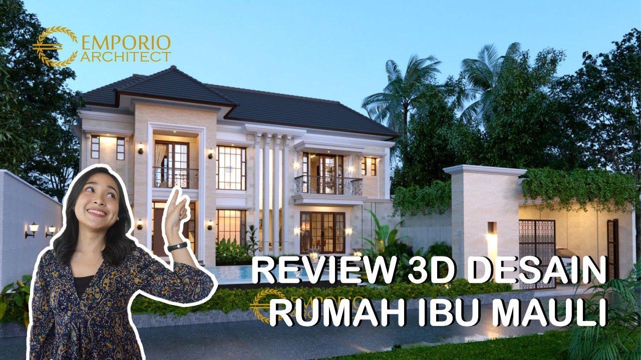 Video 3D Desain Rumah Classic 2 Lantai Ibu Mauli di Pantai Brawa, Badung, Bali
