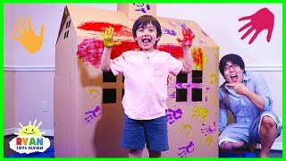 ryan-diy-pretend-play-box-fort-house-and-paint-playtime