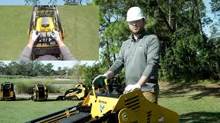 How to operate the controls on a Vermeer mini skid steer loader