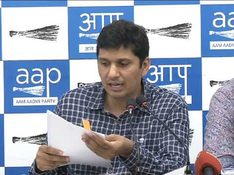 AAP Press Brief on the Further Details on Land Allocated to Center Minister Vijay Goel.
