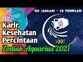 Ramalan Zodiak Aquarius 2021   Karir, Kesehatan & Percintaan
