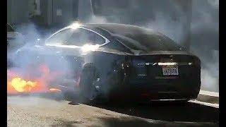 Tesla Model S Spontaneously on Fire in Los Angeles