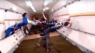 Amazing Video of Zero-Gravity flight moment in IL-76 with our tourists! Полет в невесомости!