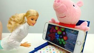Детский канал Плюшики - Доктор Барби лечит Свинку