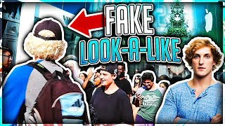 Logan Paul Look a Like Challenge in Public (IT WORKED)