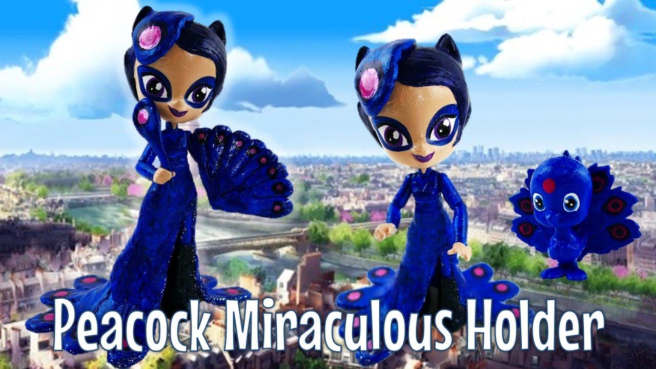 Le Paon PEACOCK Miraculous Ladybug Season 2 Toy Custom Doll Tutorial | Evies Toy House