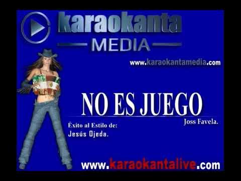 Karaokanta - Jesús Ojeda - No es juego - (Demo)
