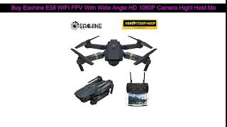 Buy Eachine E58 WIFI FPV With Wide Angle HD 1080P Camera Hight Hold Mode Foldable Arm RC Quadcopter