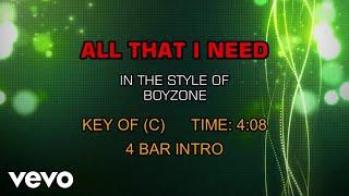 Boyzone - All That I Need (Karaoke)
